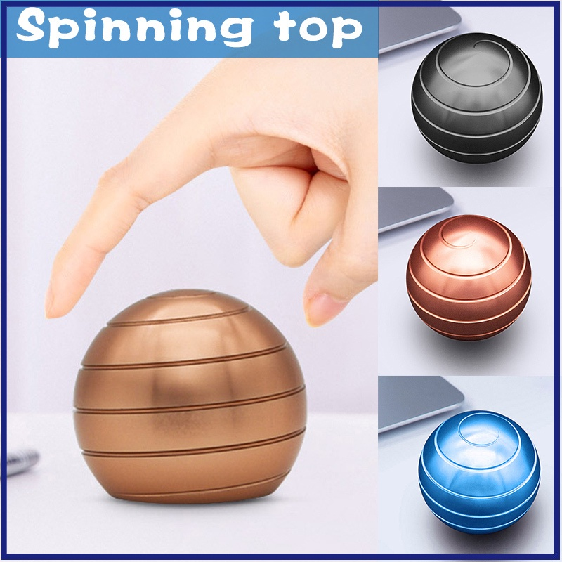 Portable Stress Relief Desk Toys Alloy Anti Stress Rotating Ball For Adults