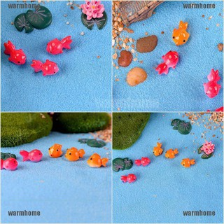 warmhome 3Pcs Miniature Fish Garden Home Decoration Micro Landscaping Decor DIY Accessory thro