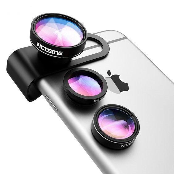 Lens 2 in 1 Cho Điện Thoại Góc Rộng và Macro Siêu Rẻ, Phù Hợp Mọi Loại Máy Điện Thoại