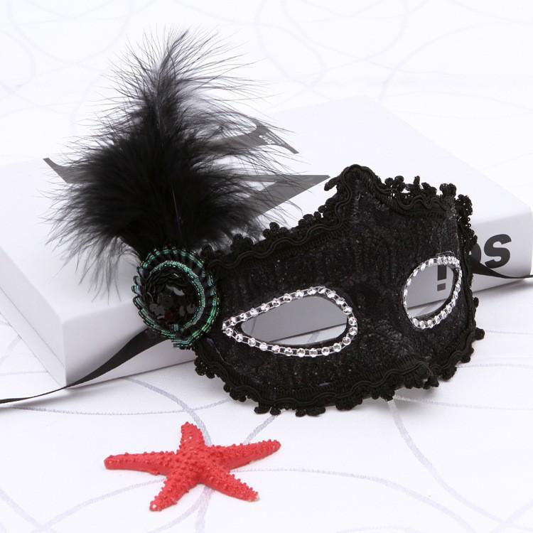 (P04) mặt nạ hóa trang lông vũ-(M144) nghỉ bán xả botdaquang85