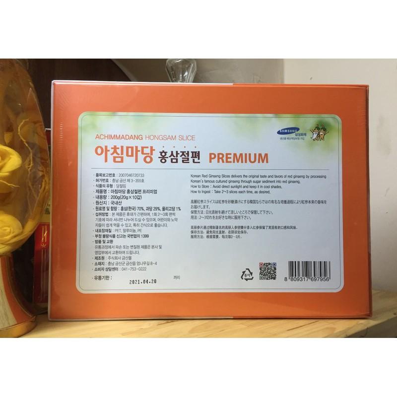 Sâm Lát Tẩm Mật Ong Hàn Quốc Achimadang Cao Cấp 200gr