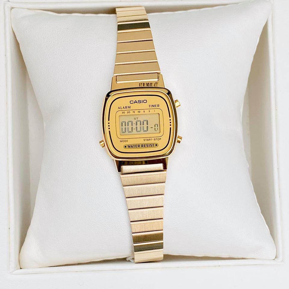 Đồng hồ nữ Casio LA670 quý phái, siêu phẩm casio chống nước không gỉ phong cách