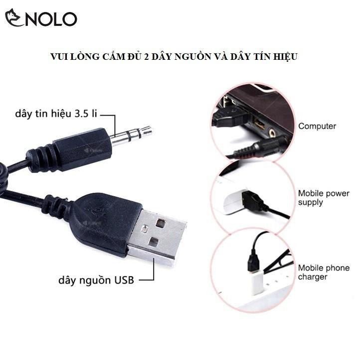 Bộ Loa Vi Tính 2 Cái 2.0 Kisonli Model V400 Công Suất 3W x 2 Loa Nguồn USB 5V