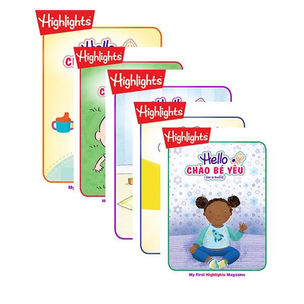 Sách: Bộ 5 cuôn tạp chí Hello – Chào bé yêu ( 0-2 tuổi)