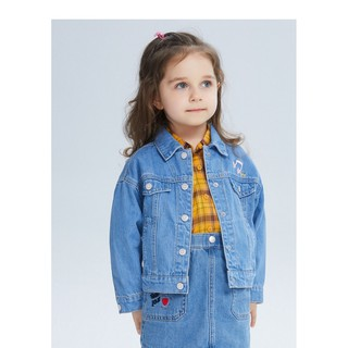 Áo khoác bò xanh dương hãng Balabala dành cho bé gái - 210532004020810