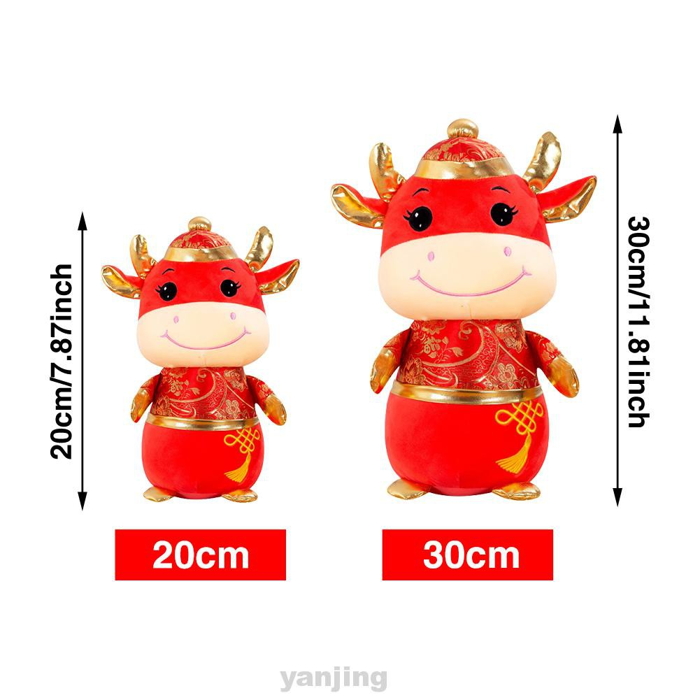 Gift Bedroom Soft Home Decoration Party Holiday Chinese New Year Cow Plush Toy