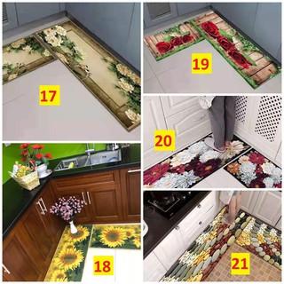 Bộ 2 thảm bếp 3d,chống trơn trượt (40*60 + 40*120 cm)-3d-004 - hình 2