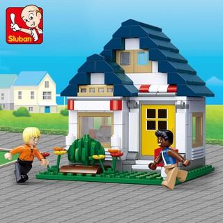 204PCS Sluban Building Blocks Educational Kids Construction Toy Gym House B0569