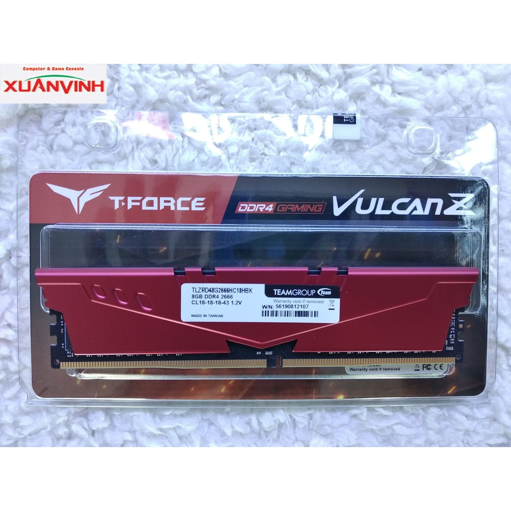 RAM TEAM VULCAN Z 8GB DDR4 2666MHZ