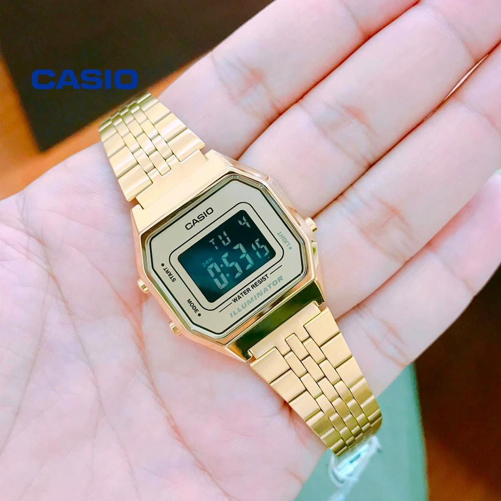 Đồng hồ nữ CASIO LA680WGA-9BDF chính hãng - Bảo hành 1 năm, Thay pin miễn phí