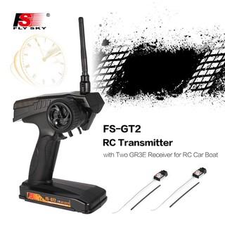 M1/B5🐤Flysky 2.4G FS-GT2 2CH Gun Radio RC Transmitter with FS-GR3E Receiver