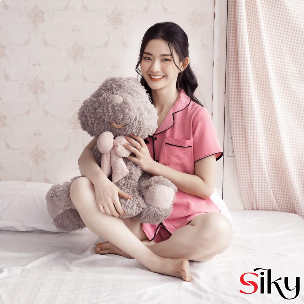 Mặc gì đẹp: Bộ pijama nữ SIKY cộc tay chất đũi lụa cao cấp