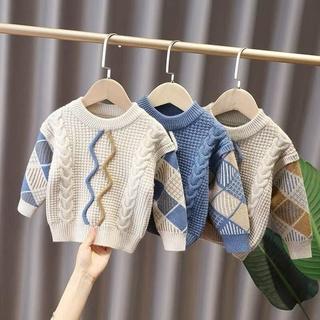 Áo len trẻ em hoạ tiết hàn quốc bé trai bé gái MELORA LTE01