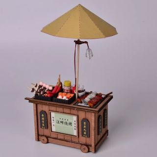 Mô hình nhà gỗ lắp ráp Dollhouse DIY – BM821 BBQ Stall