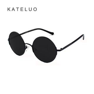 Phụ kiện thời trang KATELUO 7758 Kính mát nam thể thao phân cực gọng tròn cổ điển