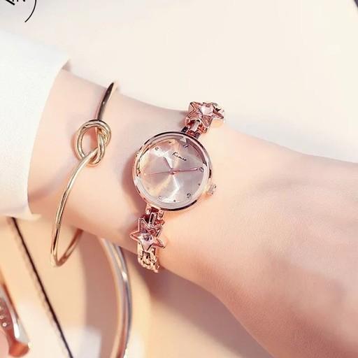 Đồng hồ nữ Kimio 6201 Hàng chính hãng dây kim loại nhỏ xinh lắc sao