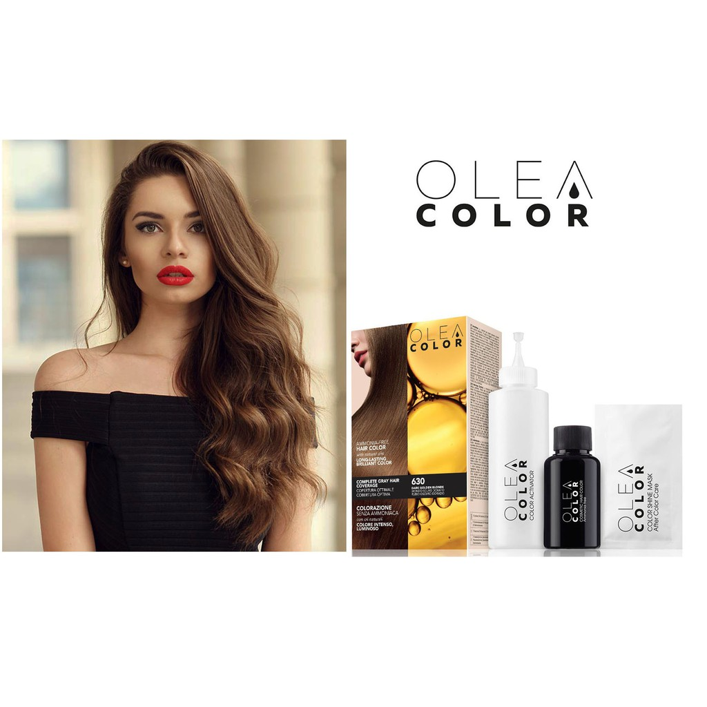 FREESHIP 99K TOÀN QUỐC_Thuốc Nhuộm Tóc Phủ Bạc Thảo Dược Bền Màu Olea Color của Ý 20 màu sắc lựa chọn