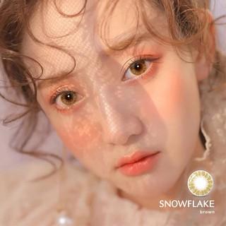 Kính áp tròng Angel Eyes - SNOWFLAKE - Brown - Classic - DIA 14.2 - Độ cận 0-6 thumbnail