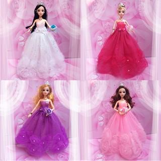 ♑BEW♑ Handmade Doll Dress Barbie Doll Wedding Party Bridal Princess Gown Dresses [OL]