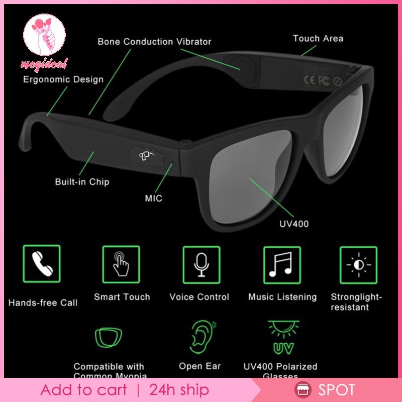 [MEGIDEAL] G1 Polarized Sunglasses Bluetooth Bone Conduction Headset Headphone Smart Glass