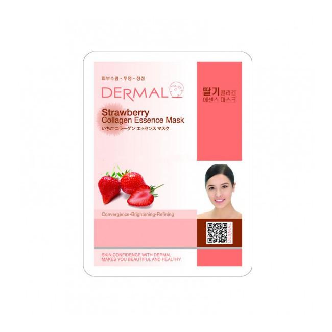 Mặt Nạ Dưỡng Da Chiết Xuất Quả Dâu Dermal 23g Strawberry Collagen Essence Mask