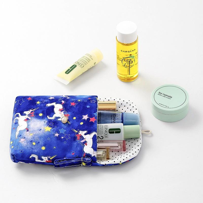 Túi ví nhỏ mini đựng BĂNG VẸ SINH nút gài dễ thương