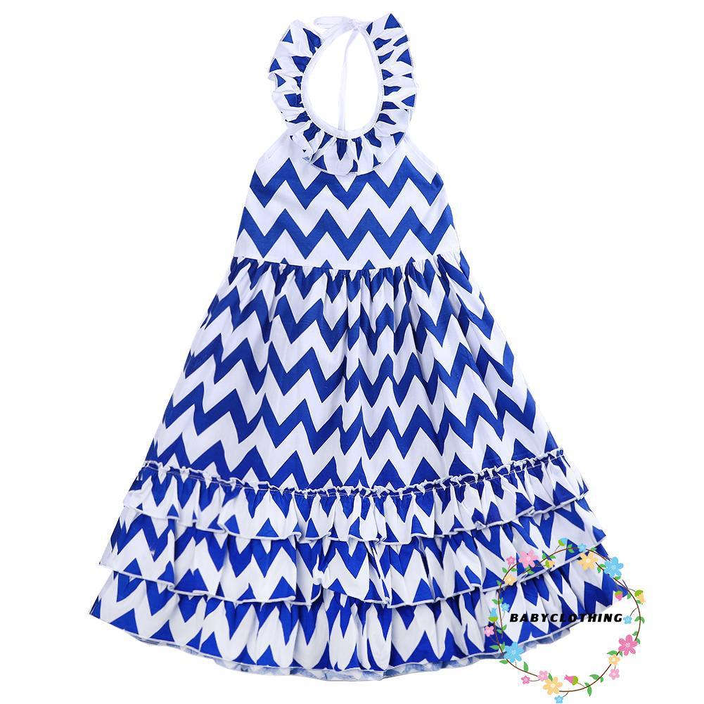 Đầm Maxi Kẻ Sọc Phong Cách Boho Cho Bé Gái ( 3-10 Tuổi )