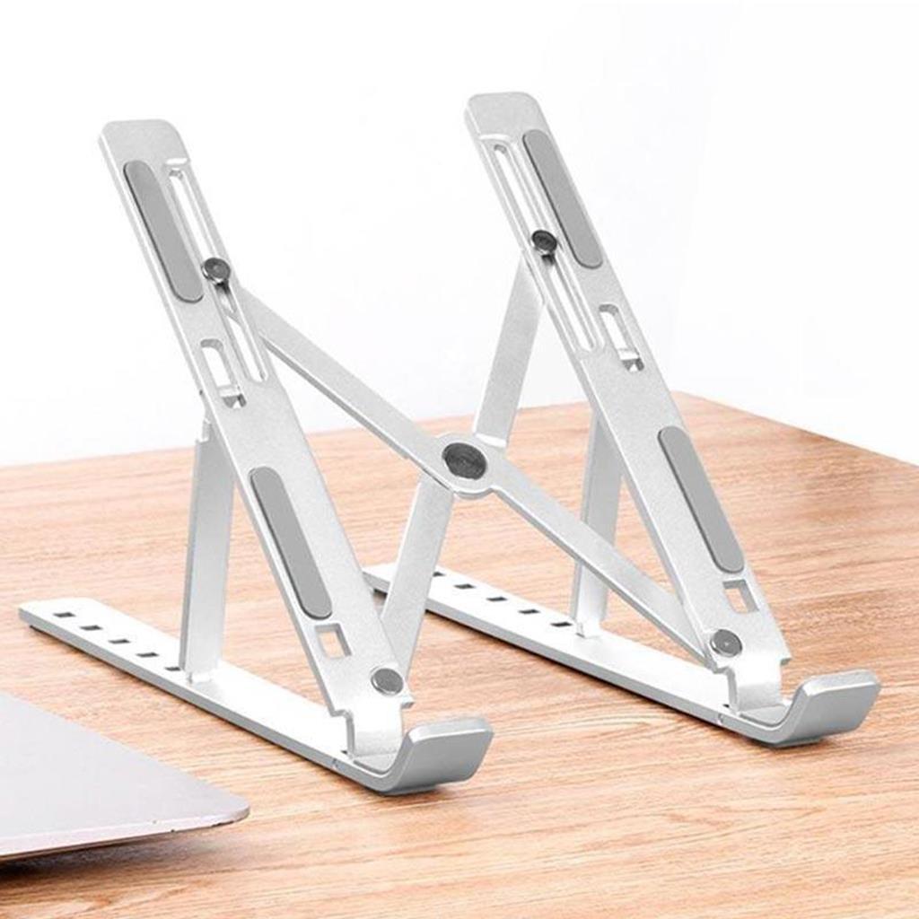Giá Đỡ Laptop có thể gập lại chất liệu hợp kim nhôm cao cấp,điều chỉnh góc độ Tương Thích cho MacBook Pro/Air...