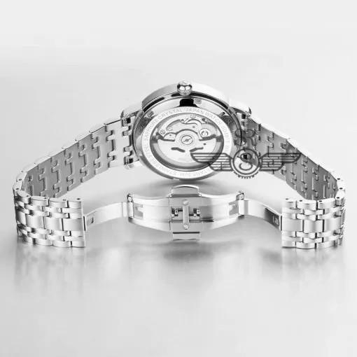 Đồng hồ nam chính hãng SRWATCH Automatic Open Heart SG8873.1102 mặt trước,mặt sau bằ