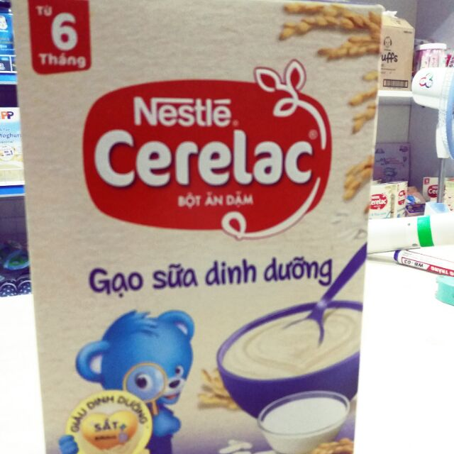 Bột ăn dặm nestle cerelac gạo sữa dinh dưỡng