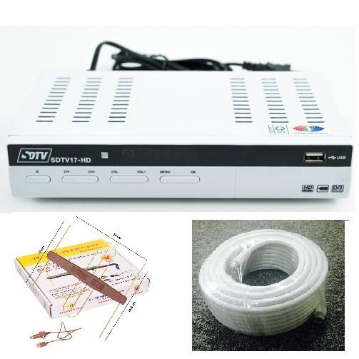 Combo Đầu thu kỹ thuật số mặt đất DVB T2 SDTV17 + Anten KĐ 113 + Cáp 15m - 3023143 , 1330299393 , 322_1330299393 , 650000 , Combo-Dau-thu-ky-thuat-so-mat-dat-DVB-T2-SDTV17-Anten-KD-113-Cap-15m-322_1330299393 , shopee.vn , Combo Đầu thu kỹ thuật số mặt đất DVB T2 SDTV17 + Anten KĐ 113 + Cáp 15m