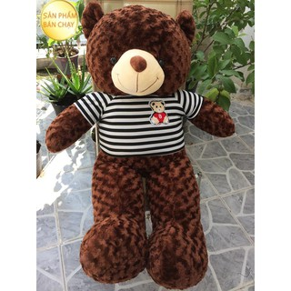 Gấu bông Teddy Cao Cấp khổ vải 1m2 Cao 1m màu Nâu hàng VNXK