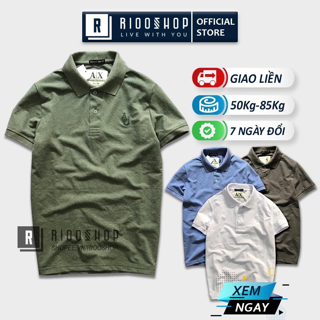 Áo thun có cổ polo, áo polo nam ngắn tay cao cấp đơn giản một màu RSP013 có size lớn big size xxl Riooshop