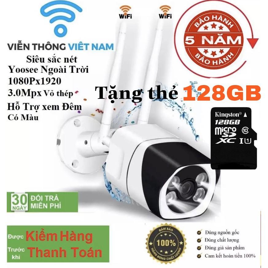 s10 (Tặng Thẻ Nhớ 128GB Trị Gía 400k Bảo Hành 5 Năm )Camera IP WiFi Ngoài trời yoosee z10 3.0Mp 1920 x 1080P Full HD