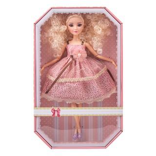 Búp bê cao cấp tóc xù, váy hồng đi tiệc xinh xắn Sariel