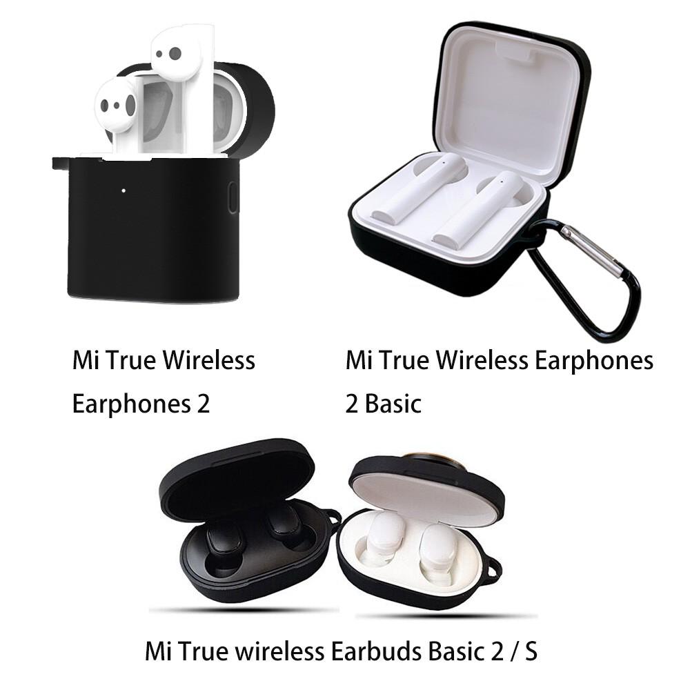 Mi True Wireless Earphones 2 Basic / Xiaomi Airdots 2 SE 2s 2 Pro Case Vỏ  bọc silicone chống sốc/nước bảo vệ hộp sạc tai nghe chính hãng 50,000đ
