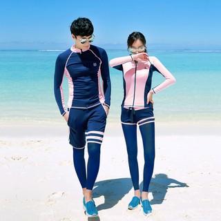 Bộ Đồ Bơi Lặn 5 Món Kiểu Hàn Quốc Thời Trang Cho Cặp Đôi