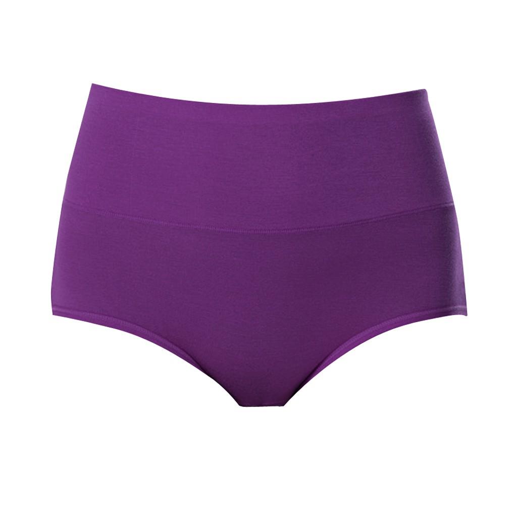 Womens Postpartum Menstrual Period Protective Cotton Panties Underwear XXL Purple