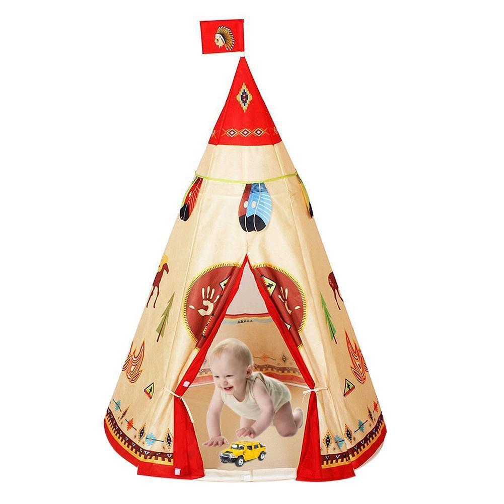 Lều vải họa tiết thổ dân da đỏ tự nhiên dành cho các bé