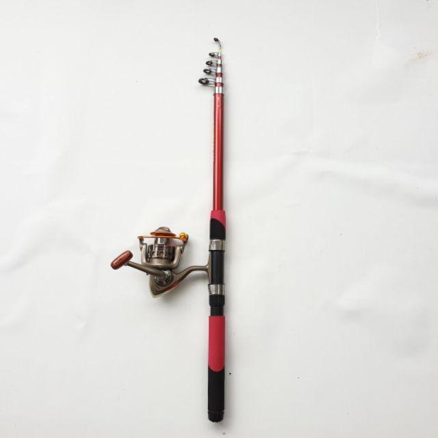 Bộ cần câu shimano + máy câu yumoshi kim loại 12 đạn bạc