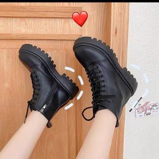 Giày Bốt Nữ Ullzang Khóa Kéo Cá Tính Phong cách Hàn Quốc siêu xinh siêu hot thumbnail