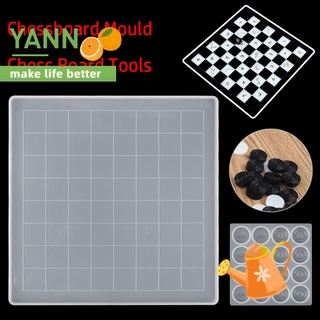 🍊YANN🍊 Gift Chessboard Mould Handmade Crafts Silicone Chess Mold Glue DIY Epoxy Resin Making Props Chess Board Tools
