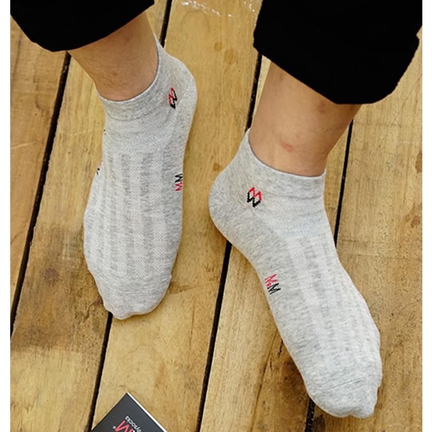 Tất vớ nam cổ ngắn sợi cotton Organic kháng khuẩn khử mùi chống hôi chân MRM Manlywear