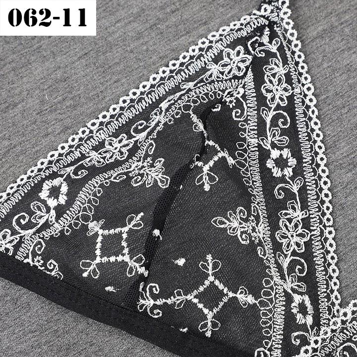 Bộ đồ lót thêu hoạ tiết đẹp - Bộ đồ lót gợi cảm lưới AQ062-11 | WebRaoVat