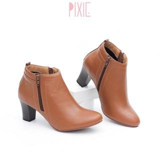 Giày Boot Cao Gót 6cm Gót Trụ Cổ Ngắn Pixie P039