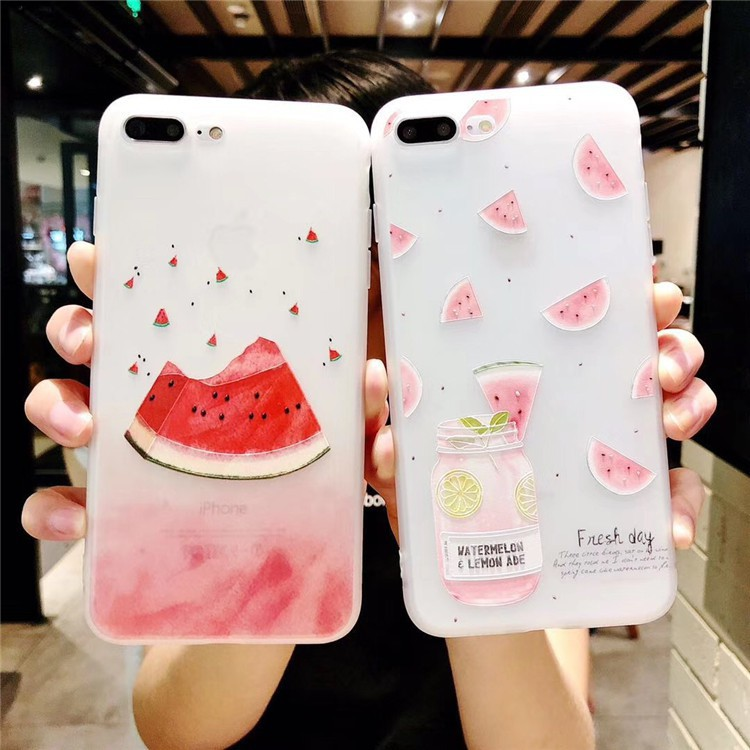 ốp silicon dưa hấu in nổi-ODT20 ốp iphone