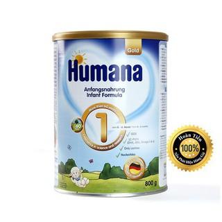 Sữa công thức Humana Gold số 1-800g Đức Nhập khẩu (ĐẢM BẢO CHECK MÃ CHUẨN)