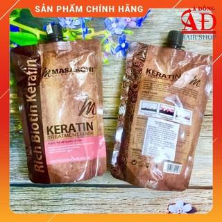 [Chính hãng] [Siêu rẻ] Dầu hấp ủ tóc phục hồi chuyên sâu Masaroni Keratin Treatment mask (dạng túi) 500ml thumbnail