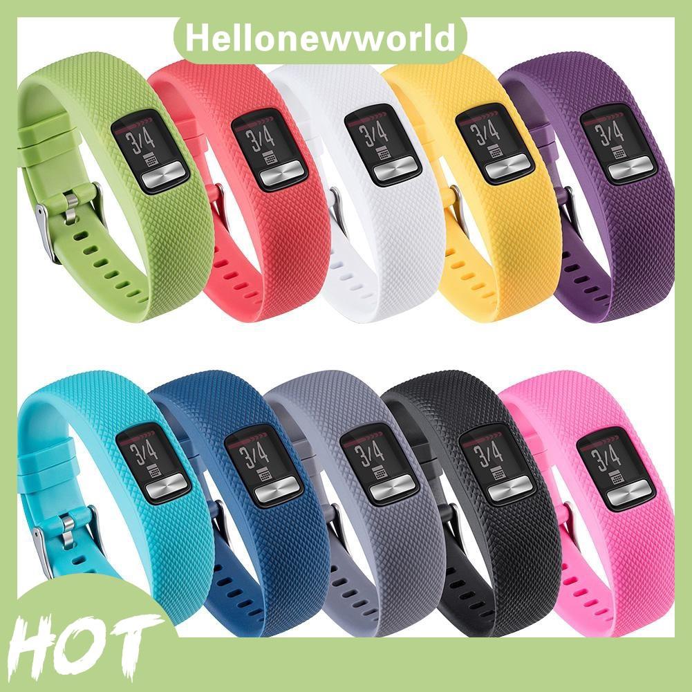 Vòng đeo tay silicon thay thế cho đồng hồ thông minh Garmin VivoFit 4