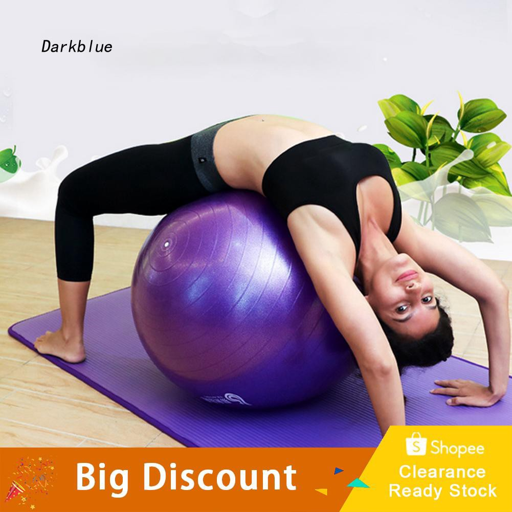 DKBL_45cm Explosion-proof Thicken Fitness Body Building Workout Inflatable Yoga Ball